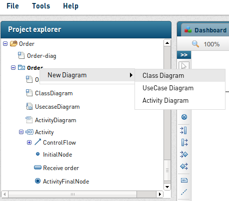Create UML activity diagram