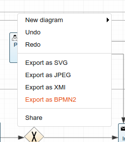 The genmymodel bpmn editor is out create bpmn process online the export as bpmn from the context menu ccuart Gallery